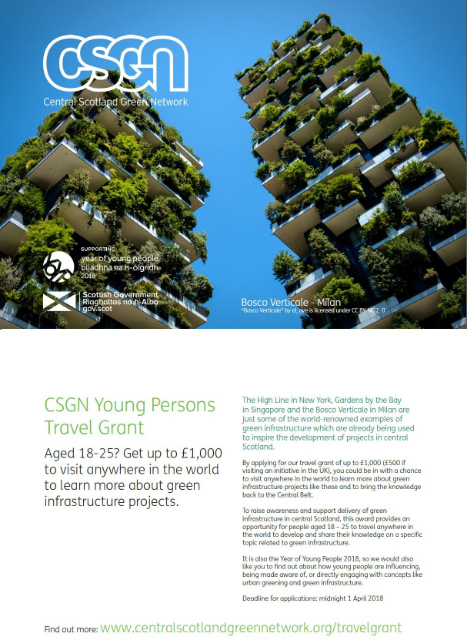 Central Scotland Green Network - Young Person Travel Grant